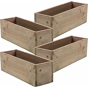 wooden planter box rustic barn wood plastic liner garden decor restaurant and. Black Bedroom Furniture Sets. Home Design Ideas