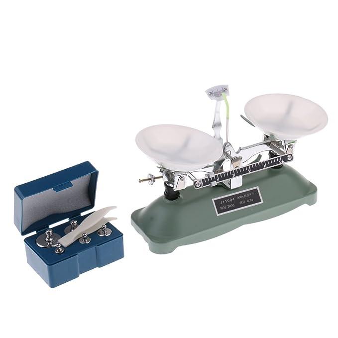 Sharplace Juguete Educativo Balanza de Tabla con Pesas para Equipos de Laboratorio para Niño - 200 Gramos: Amazon.es: Juguetes y juegos