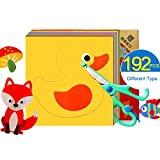192pcs Cute Pattern DIY Paper Cutting Hand Craft Kids Skill Early Development Material For Kindergarten Activity Kit Toy For 3 Year Old