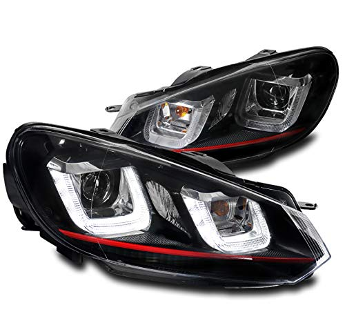 - ZMAUTOPARTS Volkswagen Golf / GTI / Jetta wagon DRL LED Bar Projector Headlights - Black