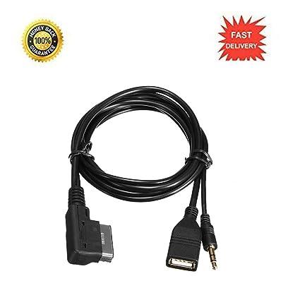 Qiilu Cargador Cable AUX + Música MDI AMI MMI Interfaz USB para Audi A6L A8L Q7 A3 A4L A5 A1
