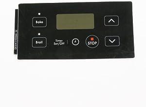316354402 Range Oven Control Overlay Genuine Original Equipment Manufacturer (OEM) Part Black