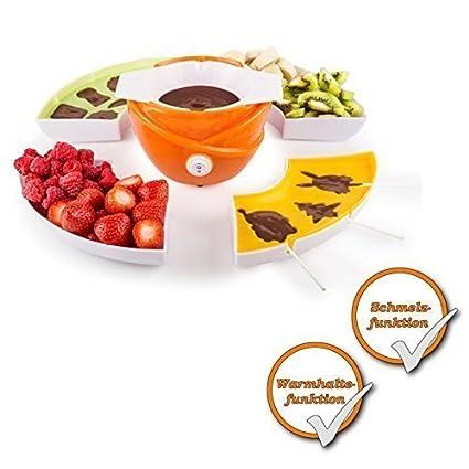 3-in-1 eléctrica chocolates-fondue-Set de moldes para hacer bombones