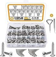 VIGRUE 640PCS M3/M4/M5/M6 Screws
