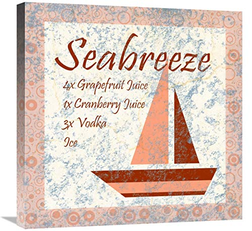 Global Gallery Cocktail Recipes - Sea Breeze-Canvas Art-24
