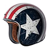 TORC (T50 Route 66) 3/4 Helmet with 'Rebel Star' Graphic (White, X-Large)