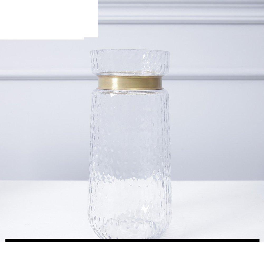Florero transparente simple/florero de cristal de la sala de estar-B: Amazon.es: Hogar