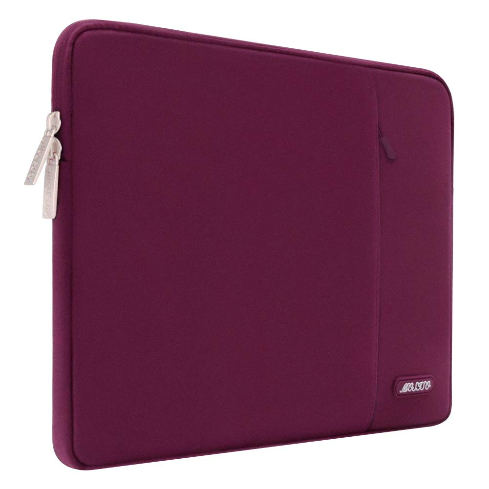 Wine Red Water Repellent Polyester Vertical Bag Case Tablet with Accessory Pocket MOSISO Laptop Sleeve Compatible 15 Inch MacBook Pro Touch Bar A1990 A1707 14 Inch ThinkPad Chromebook
