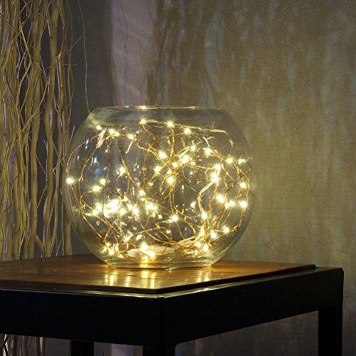 Amazon.com: Fairy String luces de alambre de cobre alambre luces 50 LEDs de pilas con control remoto para la decoración de la boda de Navidad (luz blanca ...