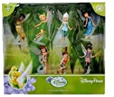 Disney Parks Pixie Hollow Fairies Collectible 7 Piece Figure Set (Tinkerbell, Silvermist, Fawn, Rosetta, Iridessa, Vidia, Periwinkle)