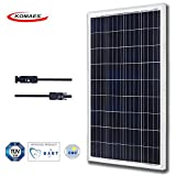 KOMAES 100 Watts 12Volts Polycrystalline Solar Panel, PV Solar Charger Includes MC4 Connector With Energy-efficient Technology (100W Poly)