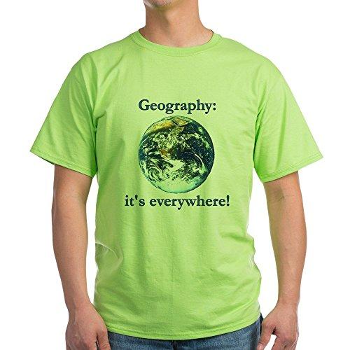 CafePress Geography Ash Grey T-Shirt 100% Cotton T-Shirt