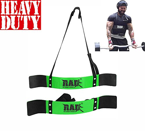 RAD Arm Blaster Body Building Bomber Bicep Curl Triceps Muscle Builder Green New