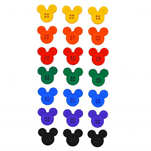 Dress It Up Disney Shaped Novelty Buttons Sew Thru Mickey Mouse - per pack]()