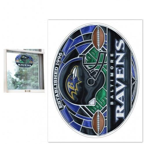 Baltimore Ravens Stained Glass - WinCraft NFL Baltimore Ravens Multi-Use Decal Stained Glass