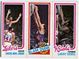 1980/81 Topps Kareem Abdul-Jabbar John Shumate Larry Demic Card Los Angeles Lakers UCLA New York Knicks