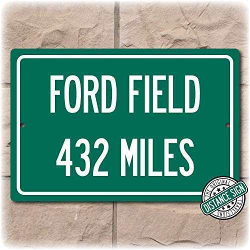 c0465793 Amazon.com: Personalized Highway Distance Sign To: Ford Field, Home ...