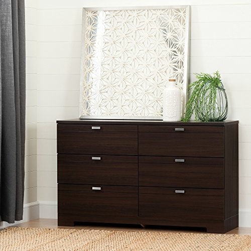 South Shore Reevo 6-Drawer Double Dresser, Matte Brown from South Shore