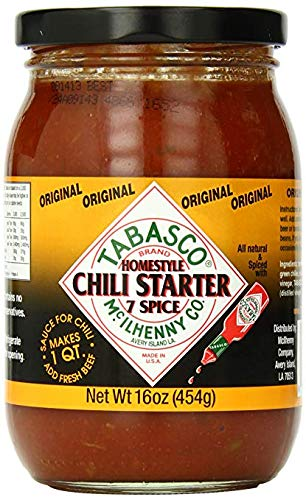 Tabasco Seven Spice Chili Starter 16 Oz (Pack of 6)