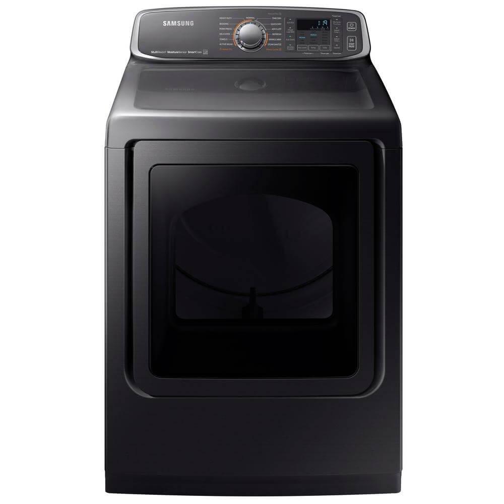 Samsung Black Stainless Steel Electric Steam Dryer
