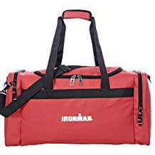 "IRONMAN 24"" Travel Size Duffel Gym Bag Red"