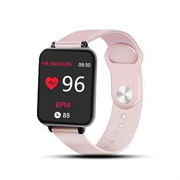 Reloj Inteligente Impermeable Deportivo para iPhone, Reloj, pulsómetro, función de presión sanguínea para Mujeres, Hombres, niños, etc.: Amazon.es: Electrónica