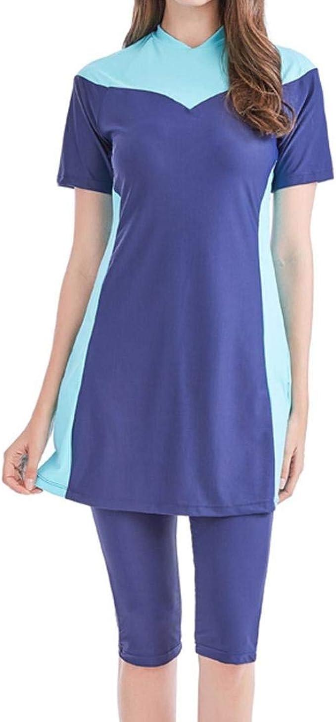 Costumi Da Bagno Donna Musulmani Modest Costumi Da Bagno Mode Di Marca Islamici Costume Da Bagno Manica Corta Top Donne Costume Da Bagno Beach Fashion Amazon It Abbigliamento