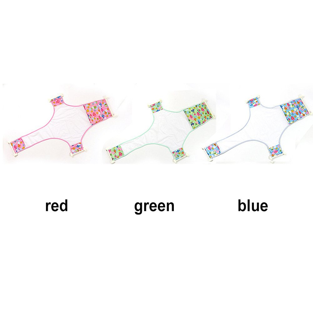 Azul Ba/ño de beb/é reci/én nacido Soporte de asiento Red de seguridad ajustable Ba/ño de ba/ño para beb/é Ducha de beb/é Soporte de tubo de ba/ño