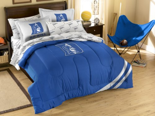 NCAA Duke Blue Devils Full Bed in a Bag with Applique Comforter