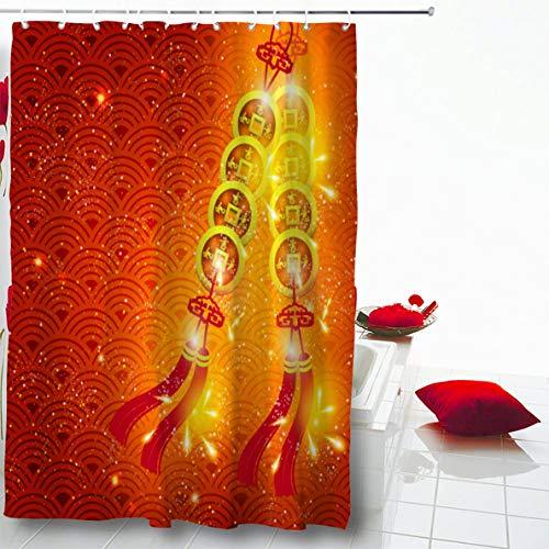 Asian Set Coin - Ahawoso Shower Curtain 72