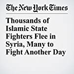 Thousands of Islamic State Fighters Flee in Syria, Many to Fight Another Day | Eric Schmitt
