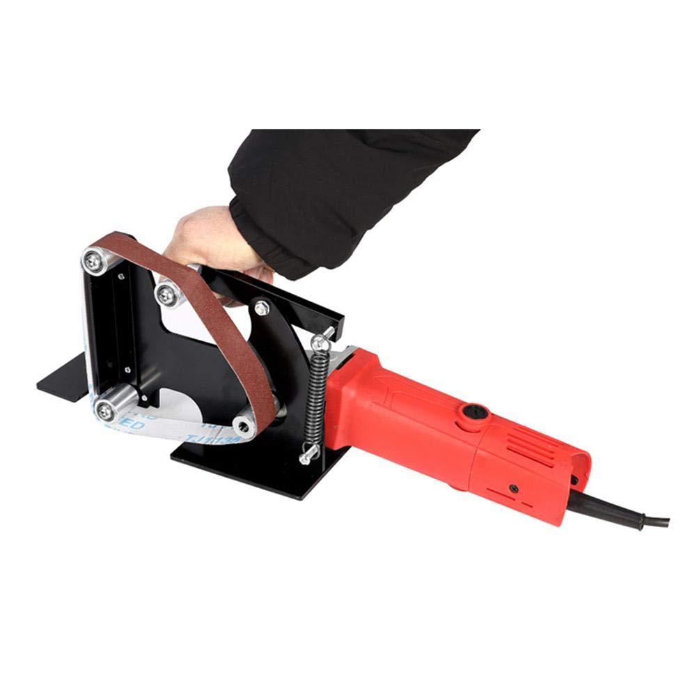 Libertry Winkelschleifer Bandschleifer Zubeh/ör Metall Holz Schleifband Adapter Schwarz