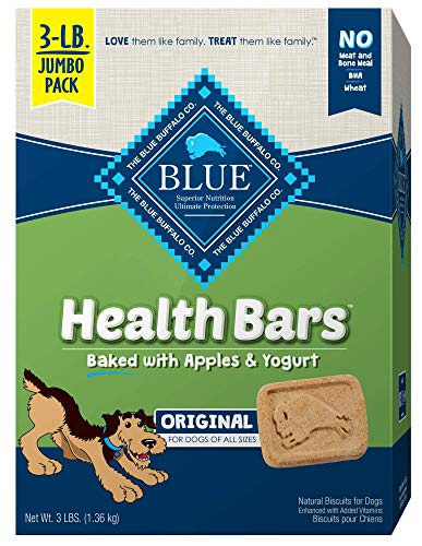 Blue Buffalo Health Bars Natural Crunchy Dog Treats Biscuits, Apple & Yogurt 48-oz box (Packaging May Vary) ()