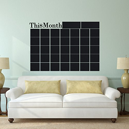 Month Plan Calendar Monthly Wall Chalkboard Blackboard Sticker Home Decals Desk School Stationery Office Supplies Set by APri