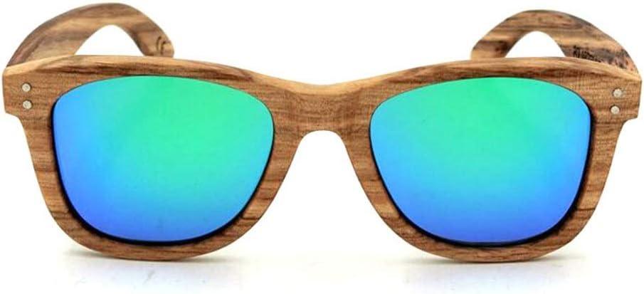 ERSD Gafas Personalizadas de Montura de Madera, Gafas de Sol polarizadas Gafas de Sol Vintage de Gama Alta para Viajes al Aire Libre para Mujeres y Hombres (Color : Verde)