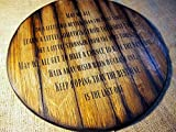 Song Lyrics of your choice painted on a handmade sign, inspired by aged whiskey barrel tops | Personalized Gifts | Rustic wall decor | Bar, Man Cave decoration