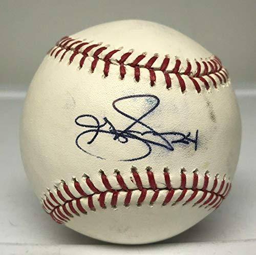 Grady Sizemore Single Signed Baseball Yankees A's MLB Hologram + JSA LOA Red Sox - Autographed Baseballs
