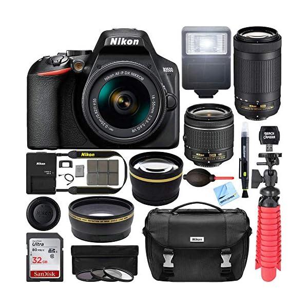Nikon D3500 DSLR Camera w/AF-P DX 18-55mm VR & 70-300mm Double Zoom Lens Kit...