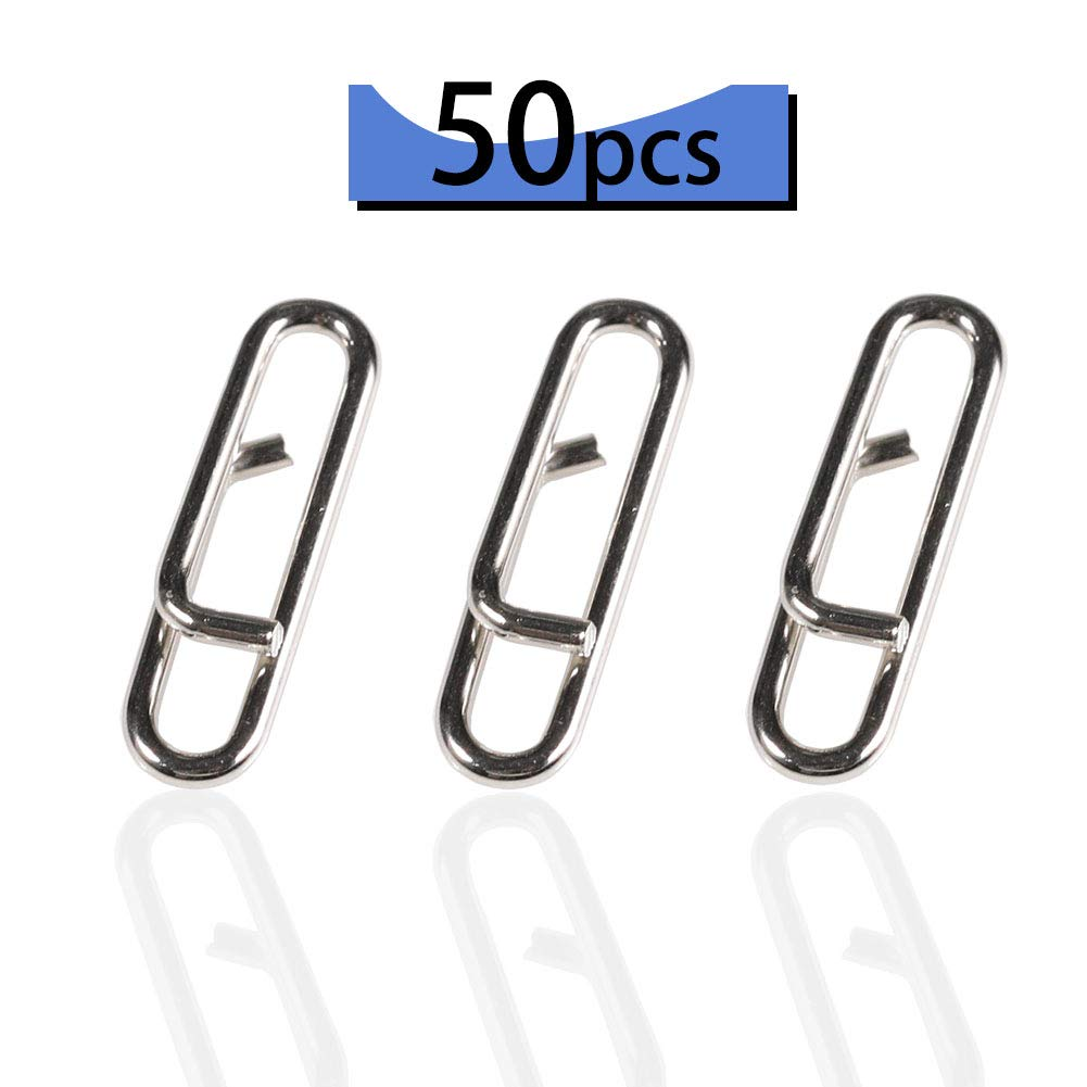 YOTO 50 PCS Power Clips Fast Snaps 30Lb//50LB//75LB Freshwater Saltwater Stainless Steel Fishing Clips