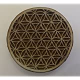 Round Shaped Flower of Life Indian Hand Carved Wooden Printing Block Stamp by Pilgrims Fair Trade