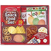 Melissa & Doug Store & Serve Snack Food Set Play