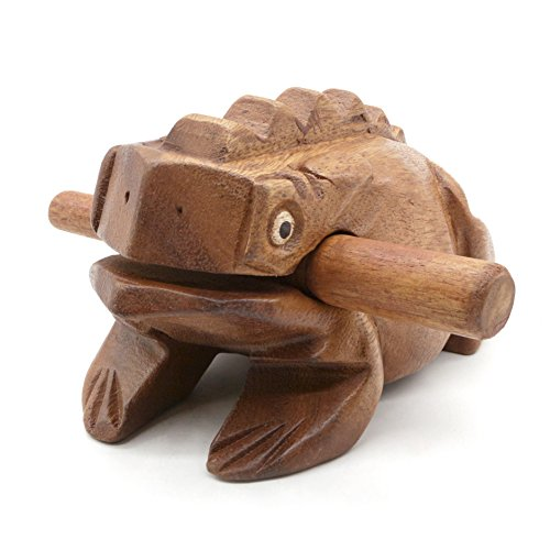 Wooden Frog Rasp Musical instruments of Africa Frog Rasp Super Guiro (6 Inch) - Musical Instrument Wood