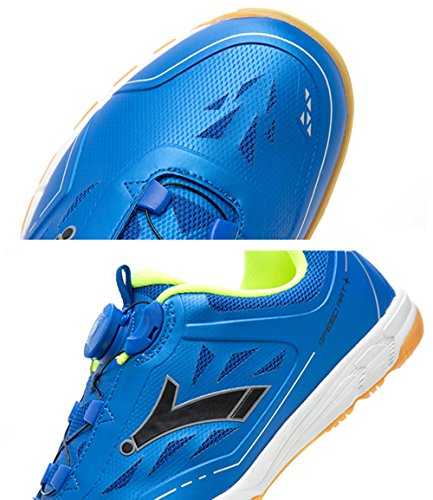 Basketball Badminton for Professional Shoes Slip Resistant for Breathable Tennis Bowling Shoe Blue HUMGFENG Athletics UCawvPwq