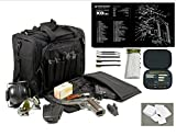 Explorer Rangemaster II - Large Black Padded Deluxe Tactical Range - Gear Bag - Springfield Armory XDs TekMat & 25 Pc Handgun Master Cleaning Kit with Patches