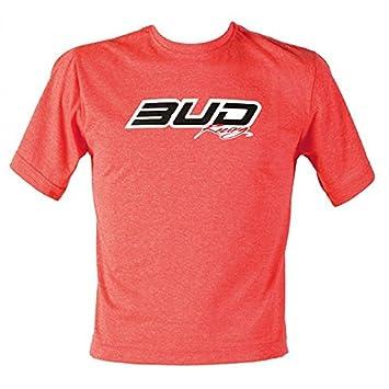 Bud Racing Logo Heather Red Adult T-shirt: Amazon co uk: Car & Motorbike
