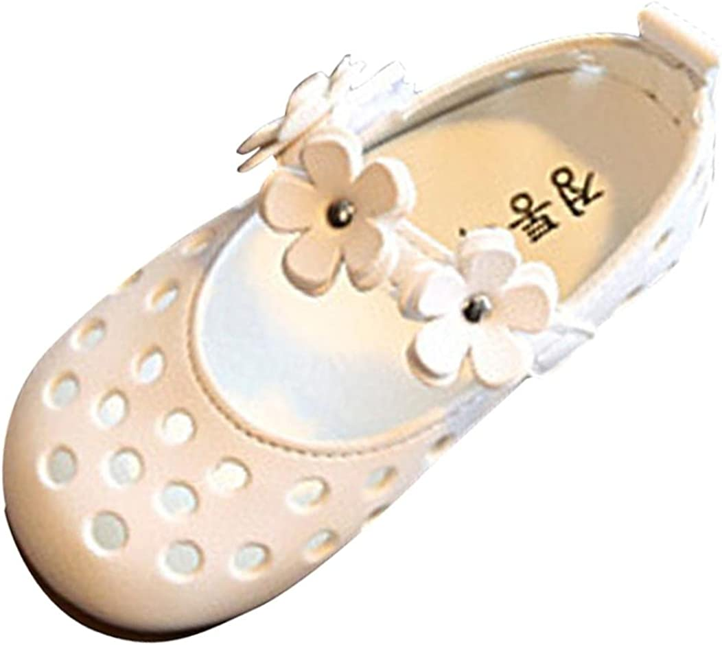 WOCACHI Baby Girls Shoes Infant Solid Sole Summer Sandals Toddler First Walker