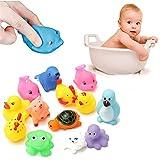 Best Vktech Toys Babies - Vktech® 13Pcs Cute Soft Rubber Float Sqeeze Sound Review