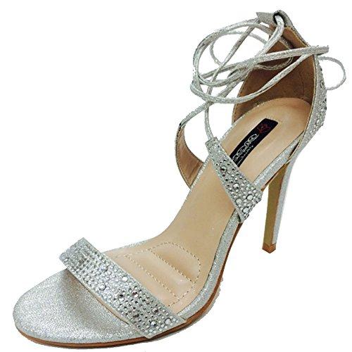 Dbdk By Elegant Footwear Women's Yael-1 Rhinestone Parent Ankle Wrap Sandal B01CT2OSFY Parent Rhinestone 528e03