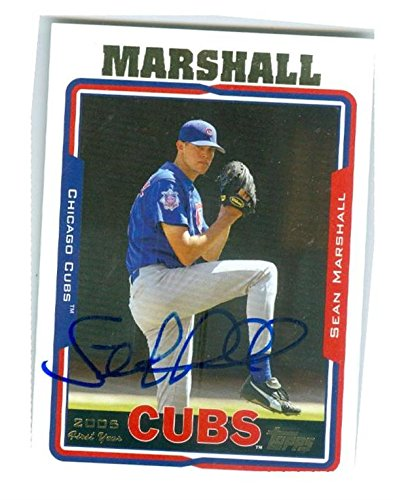sean-marshall-autographed-baseball-card-chicago-cubs-2005-topps-306-rookie