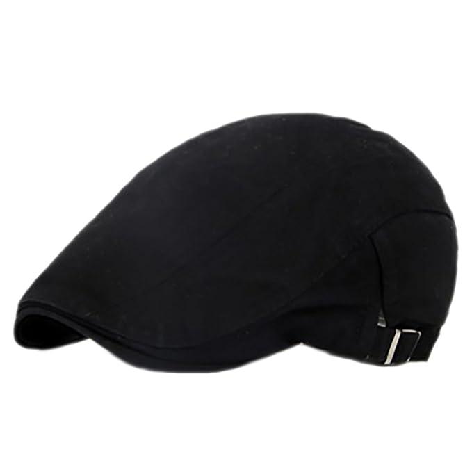 e6527301 Men Women Classic Cotton Newsboy Ivy Hat Vintage Cabbbie Gatsby Driving  Beret Hat Flat Peaked Cap